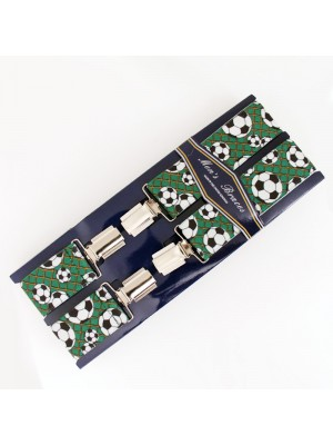 Men's Braces Football Print 35mm Wide