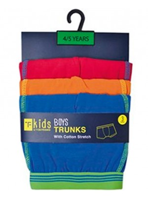 Wholesale Boys 3 Pack Trunks - Assorted Colours & Sizes