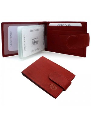 Wholesale Men's Florentino Leather Card Holder with 14 Slots - Red
