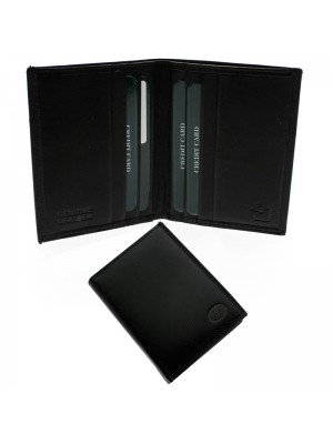 Wholesale Men's Florentino Leather Card Wallet With 8 Card Slots - Black