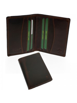 Wholesale Men's Forum Leather Card Wallet With 8 Card Slots - Brown