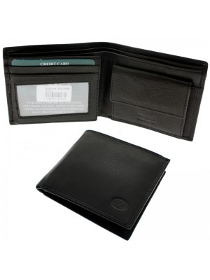 Wholesale Men's Florentino Leather Wallet With 5 Card Slots - Black