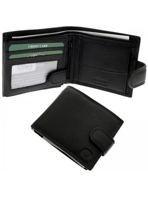 29404188876 Men s Florentino Leather Wallet With 9 Card Slots - Black