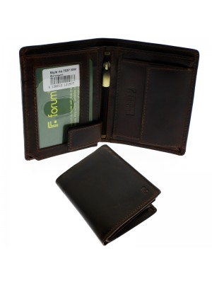 Men's Forum Leather Wallet With 4 Card Slots - Brown
