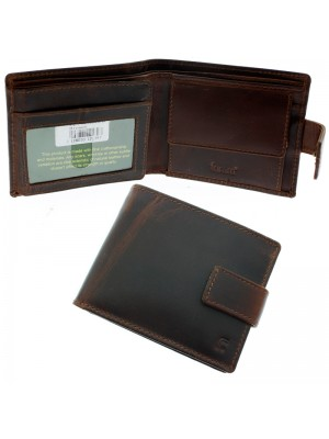 Wholesale Men's Forum Leather Wallet With 4 Card Slots - Brown