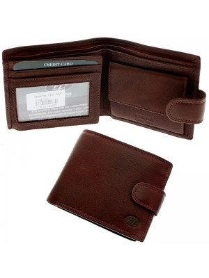 Wholesale Men's Florentino Leather Wallet With 5 Card Slots - Brown