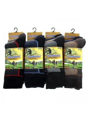 Men's Fresh Feel Hike Boot Socks - Assorted Colours