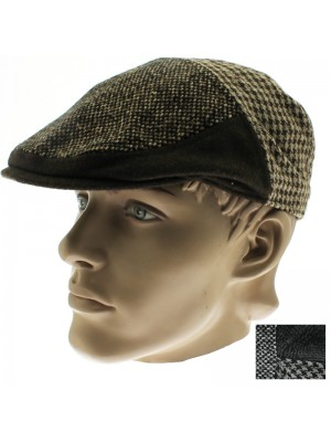 Men's Hawkins Country Flat Cap - Assorted Colours