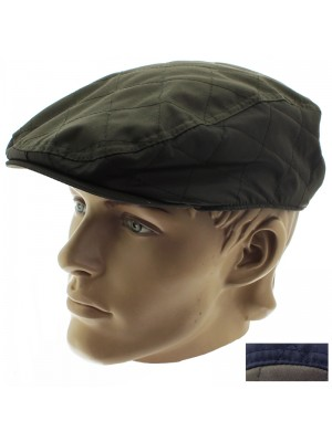 Men's Hawkins Country Quilted Flat Cap - Assorted Colours & Sizes