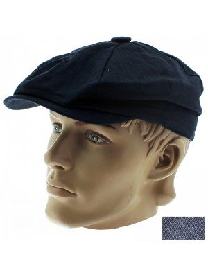 Men's Lightweight 8-Panel Flat Cap - Assorted Colours & Sizes