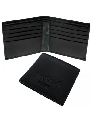 Wholesale Men's Military Heritage Leather Wallet 10 Card Slots - Spitfire