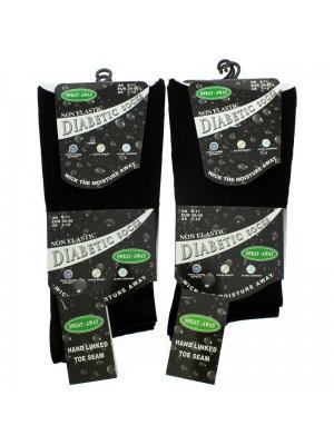 Men's Non-Elastic Diabetic Socks (6-11) - Black