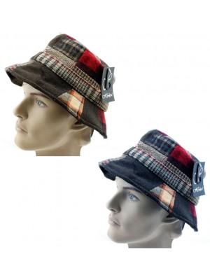 Men's Patchwork Bucket Hat - Assorted Colours