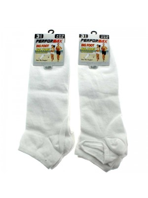 Men's Performax Big Foot Trainer Socks (11-14) - White