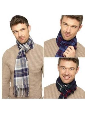 Men's Plaid Scarves - Assorted Colours