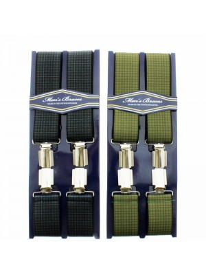 Men's Printed 35mm Braces - Window Check Pattern Assorted