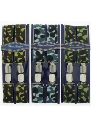 Men's Printed 35mm Braces - Camouflage Design
