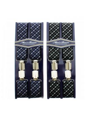 Men's Printed 35mm Braces - Gliders Print Assorted