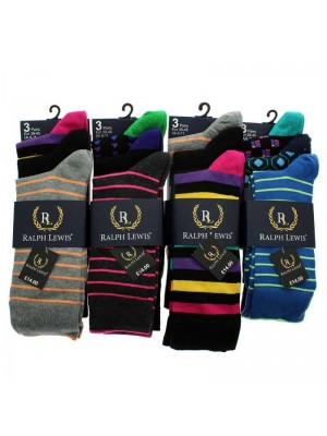 Men's Ralph Lewis Design Socks - Assorted Colours & Designs