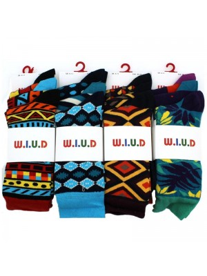 Men's Retro Pattern Design Socks - Assorted Designs & Colours