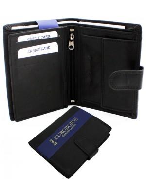 Men's RFID Leather Wallet 12 Card Slots - Black