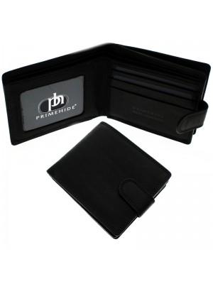Men's RFID Leather Wallet 3 Card Slots - Black Alva