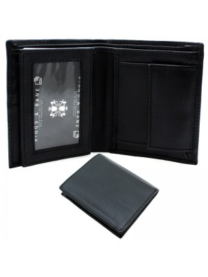Men's RFID Leather Wallet 5 Card Slots - Black