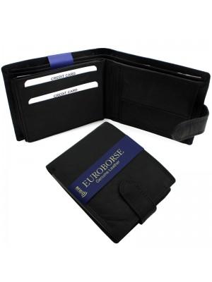 Men's RFID Leather Wallet 9 Card Slots - Black