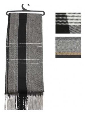 Wholesale Men 100% Acrylic Scarf Striped Design-Assorted Colours