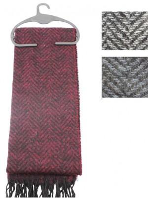 Wholesale Men's Scarf Zig Zag Patterned Design-Assorted Colours