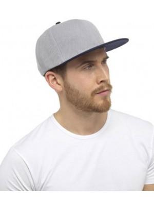 Men's Snapback Cap - Grey/Navy