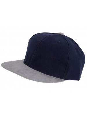 Men's Snapback Cap - Navy/Grey