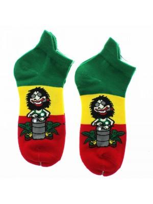 Men's Trainer Socks Rasta Man Design