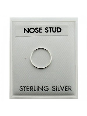 Men's Sterling Silver Round Nose Stud (10mm)