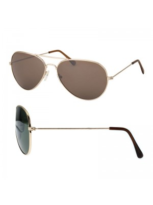 Men's Aviator Sunglasses - Tinted Lens (Assorted Colours)