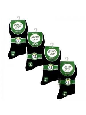 Men's Bamboo Blend Socks - Gentle Grip (3 Pair Pack) - Black