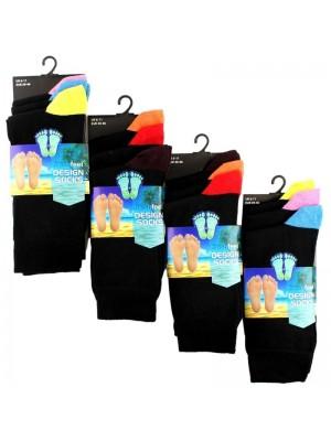 Men's Black Coloured Toes & Heels Socks - Fresh Feel (3 Pair Pack)
