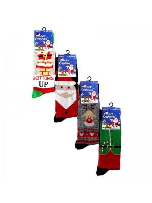 Men's Christmas Socks (1 Pair Pack) - Asst