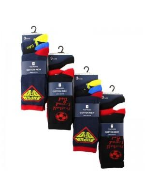 Men's Cotton Rich Dad Design Socks (3 Pair Pack) - Asst