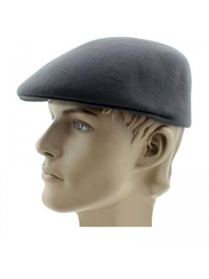 Men's Grey Plain Wool Flat Caps - Assorted Sizes