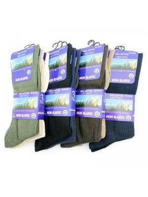 Men's 'Light Hold' Therapeutic Socks - Assorted Colours