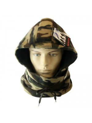 Men's Multifunctional Fleece Hoody - Camouflage