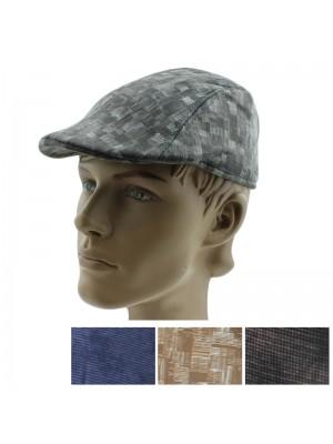 Men's Panel Flat Cap - Assorted Designs
