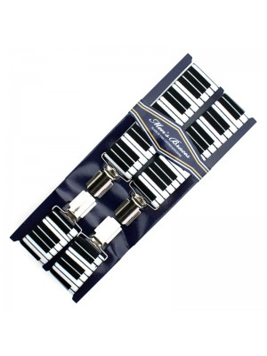 Men's Printed 35mm Braces - Piano Keys Design