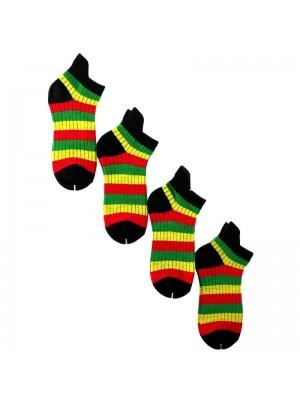 Rasta Colours Design Trainer Socks
