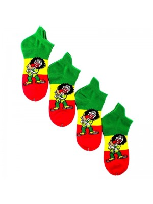 Men's Rasta Man Print Trainer Socks (1 Pair Pack)