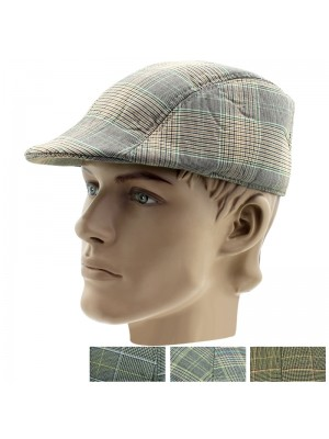 Men's Soft Flat Caps (Tweed Design) - Assorted Colours