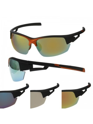 Men's Sports Sunglasses - Metallic Effect (Assorted Colours)