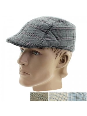 Men's Tweed Design Soft Flat Caps - Assorted Designs