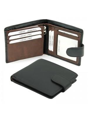 Men's Woodbridge Leather Wallet - (Black/Brandy)